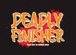 Deadly Finisher Brush Font