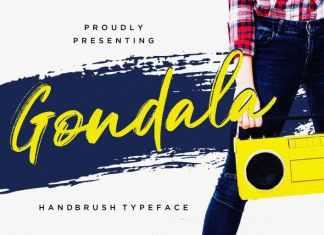 Gondala Brush Font