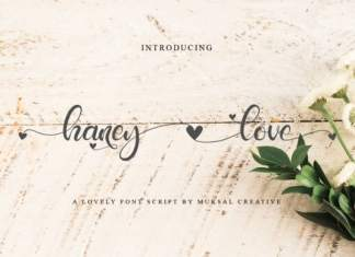 Haney Love Calligraphy Font