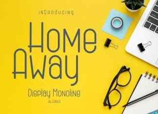 Home Away Display Font