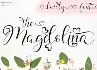 Magdolina Calligraphy Font