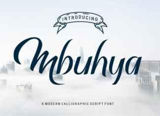 Mbuhya Script Font