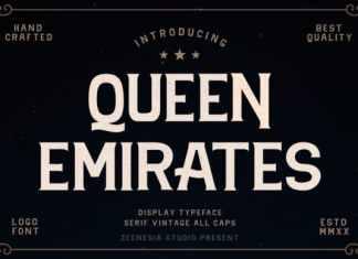 Queen Emirates Display Font