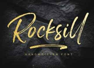 Rocksill Brush Font