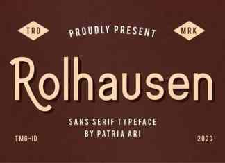 Rolhausen Sans Serif Font