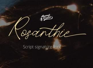 Rosanthie Script Font
