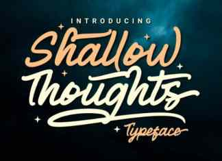 Shallow Thoughts Script Font