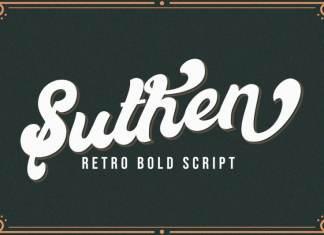 Suthen Bold Script Font