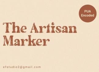 The Artisan Marker Display Font