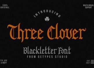 Three Clover Blackletter Font