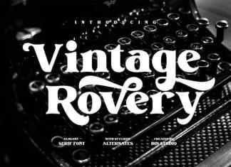 Vintage Rovery Serif Font