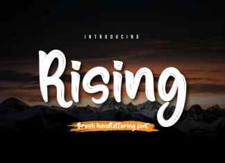 Rising Script Font