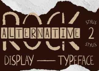 Alternative Rock Display Font