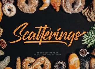 Scatterings Brush Font
