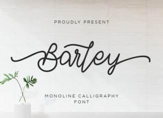 Barley - Monoline Calligraphy Font