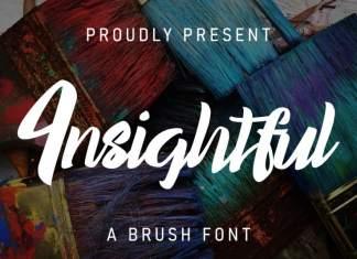 Insightful Brush Font
