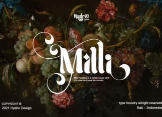 Milli Display Typeface