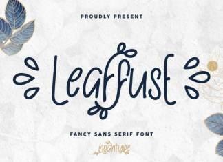 Leaffuse Display Font