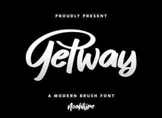 Getway Brush Font