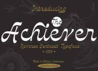 The Achiever Script Font