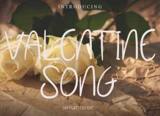 Valentine Song Font