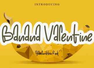 Banana Valentine Handwritten Font