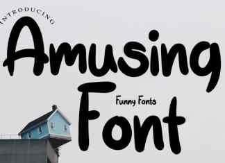 Amusing Display Font