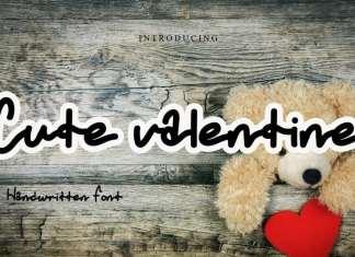 Cute Valentine Script Font