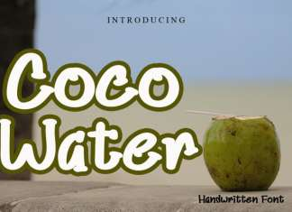 Coco Water Display Font