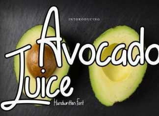 Avocado Juice Display Font