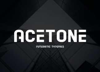 Acetone Display Font