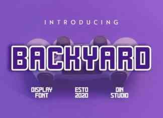 Backyard Display Font