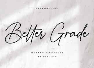 Better Grade Handwritten Font