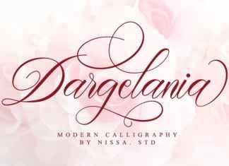 Dargelania Calligraphy Font