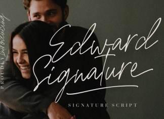 Edward Signature Script Font