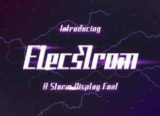 Elecstrom Display Font
