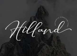 Hilland Script Font