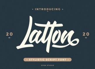 Latton Brush Font