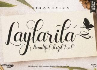 Laylarita Calligraphy Font