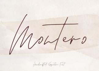 Montero Handwritten Font