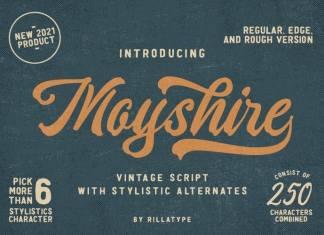 Moyshire Script Font