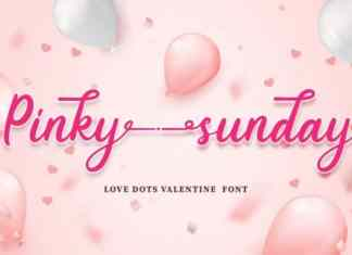 Pinky Sunday Calligraphy Font