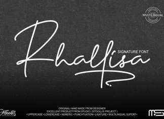 Rhallisa Handwritten Font