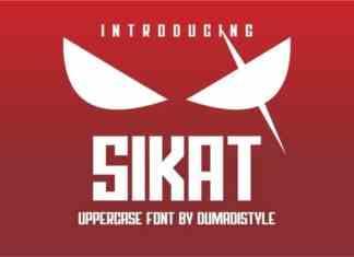 Sikat Display Font