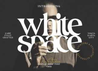 White Space Display Font