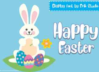 Happy Easter Display Font
