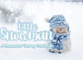 Little Snowman Script Font