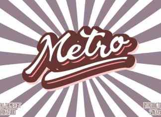Metro Script Font