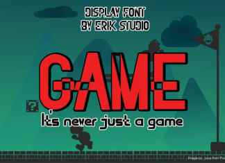 Super Mega Game Display Font