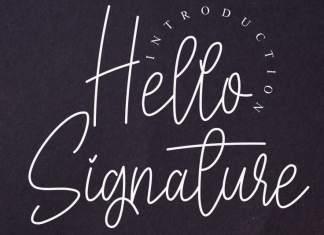 Hello Signature Script Font